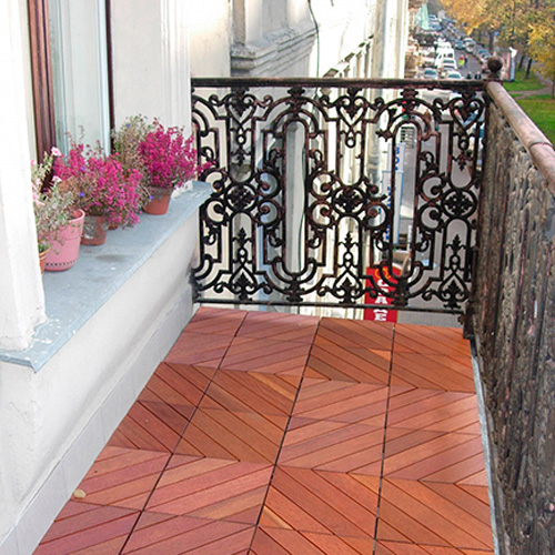 керамогранитная плитка на балконе