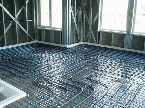 водяной тёплый пол под ламинат на бетонный пол
