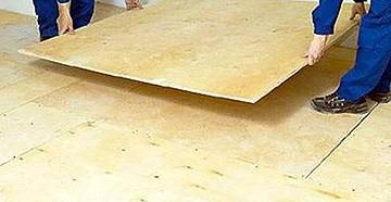 фанера на деревянный пол под линолеум