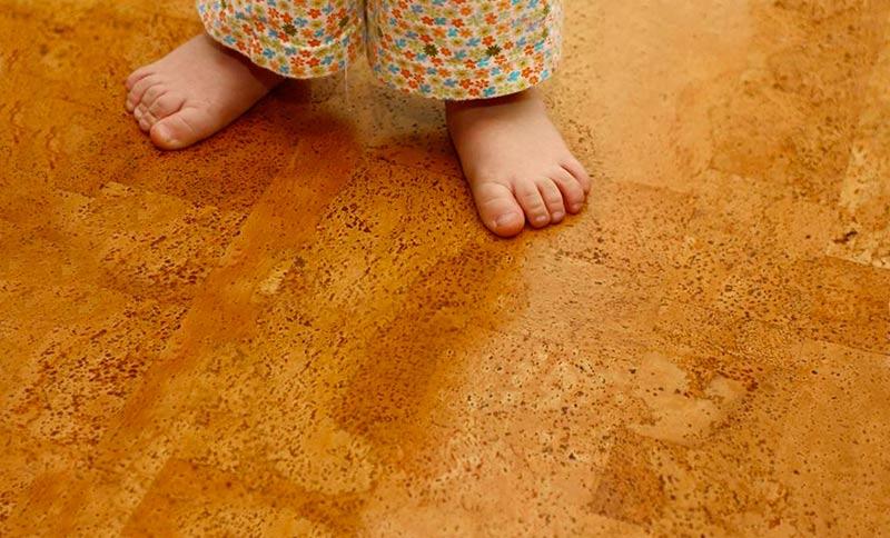пробковое покрытие на теплый пол