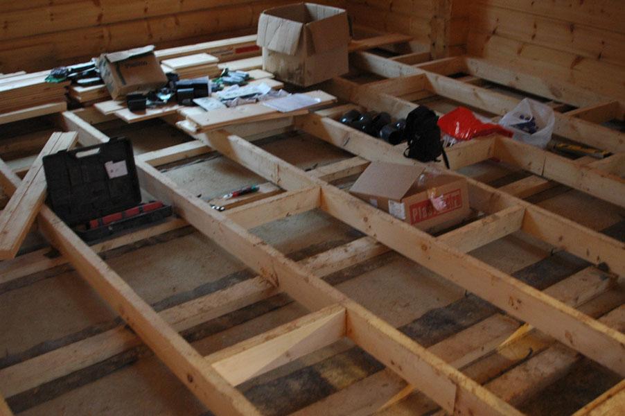 Пол в деревянном доме своими руками из фанеры