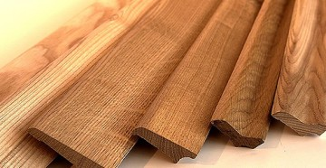 плинтуса напольные широкие деревянные фото