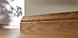 плинтус напольный деревянный шпонированный высокий